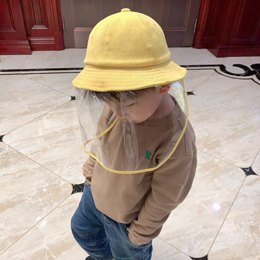 huaquyuedu 4-8 Years Old Children Anti-Spitting Protective hat Protective mask Anti-Virus Mouth Nose Protection Anti-Fog Baseball Cap Splash-Proof Eye Protection Adjustable Size Mask