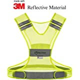 Reflective Vest - MADE OF REAL 3M SCOTCHLITE MATERIAL - High Visibility Safety Gear for Your Running Walking Cycling or Biking Fitness