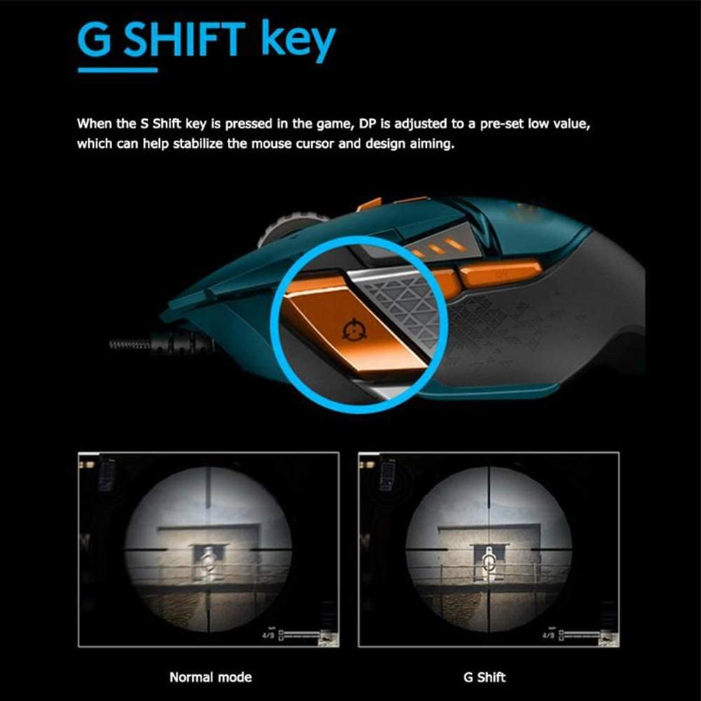 ZUKN Game Mechanical Keyboard Programmable Mechanical Main Button RGB 16000 DPI Game Wired Mouse for Chrome OS Macos 10//11