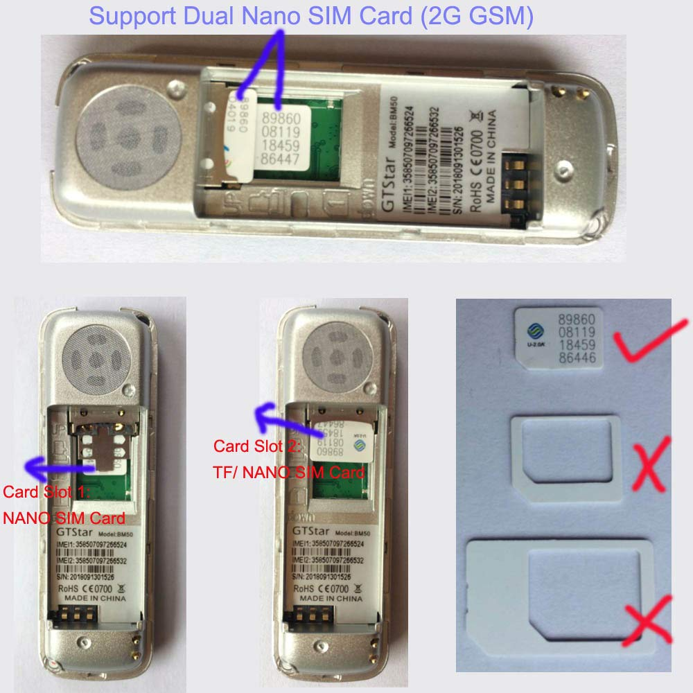 GTStar MB50 3 en 1 El teléfono móvil MINI más pequeño, mini auricular Bluetooth, marcador Bluetooth, marcado de tarjeta SIM estándar, soporte 2G red ...