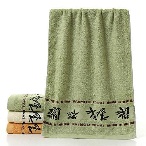 Adeeing Towels Bamboo Fiber 14x30inches Absorbent Smooth Soft Cotton Hand Towel Gym Towel Bath Towel Wash Cloths Washcloths,Green