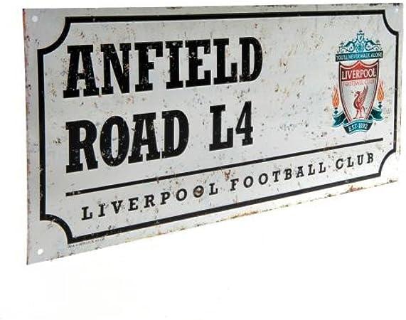 Liverpool Officiel Anfield Road L4/Plaque de Rue en m/étal/ /
