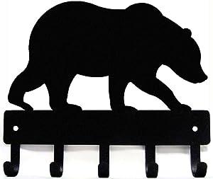 The Metal Peddler Bear #02 Key Rack Hanger - Small 6 inch Wide