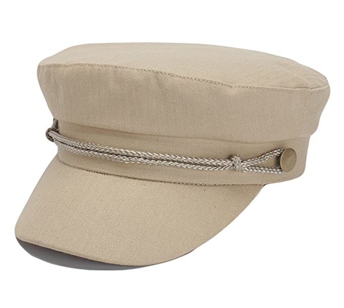 2616667e5e2 Image Unavailable. Image not available for. Color  Qiabao Womens Cotton  Greek Fisherman Sailor Fiddler Hat Cap