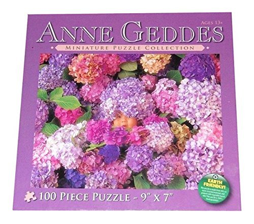 Anne Geddes Hydrangeas Baby Wildflower Miniature Puzzle Collection 100 Piece Jigsaw Puzzle 9 X 7 by Anne Geddes - Anne Geddes Flower Collection