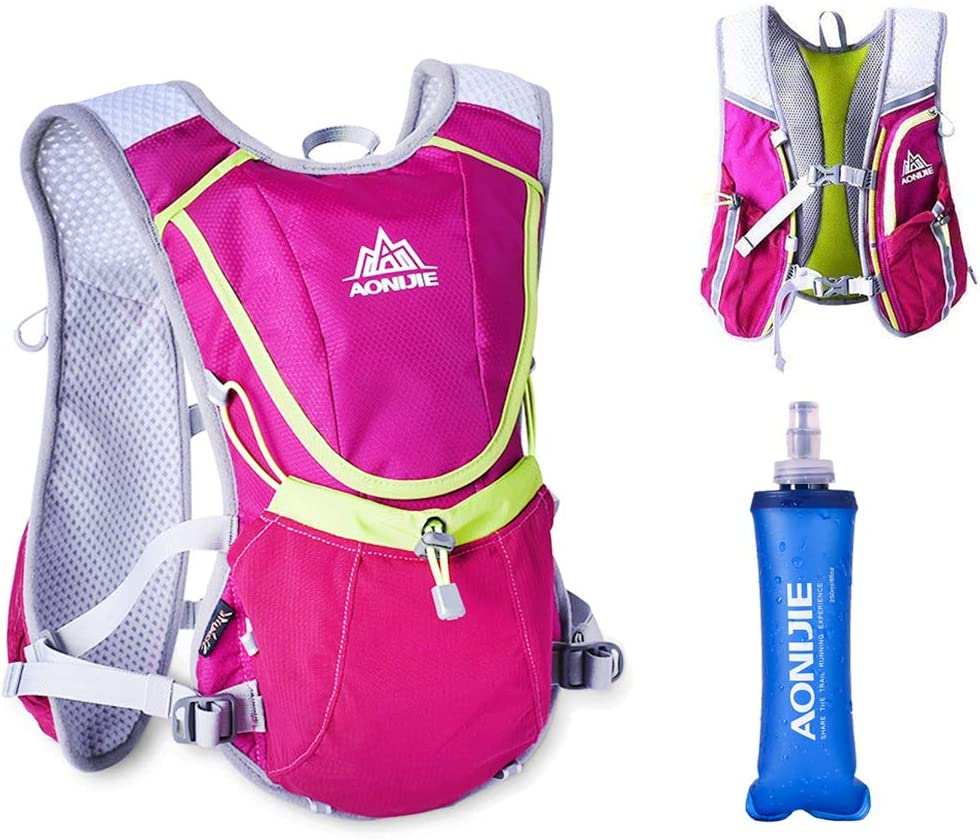 AONIJIE Running Hydration Vest Pack Outdoors Rucksack Bag Harness Water Bladder Marathon Hiking Cycling Backpack for Women and Men Lightweight