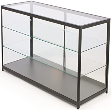 Amazon Free Standing Glass Display Case Framed In Black