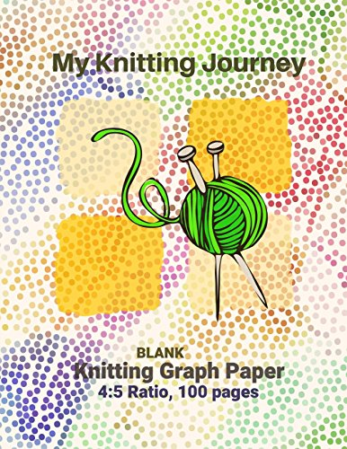 My Knitting Journey, Blank Knitting Graph Paper-4:5 Ratio,100 pages, 8.5x11 - Paperback Designing knits often starts with sketching on a graph Graph Paper Notebook, Knitters Notebook [Books, Soulfolio] (Tapa Blanda)