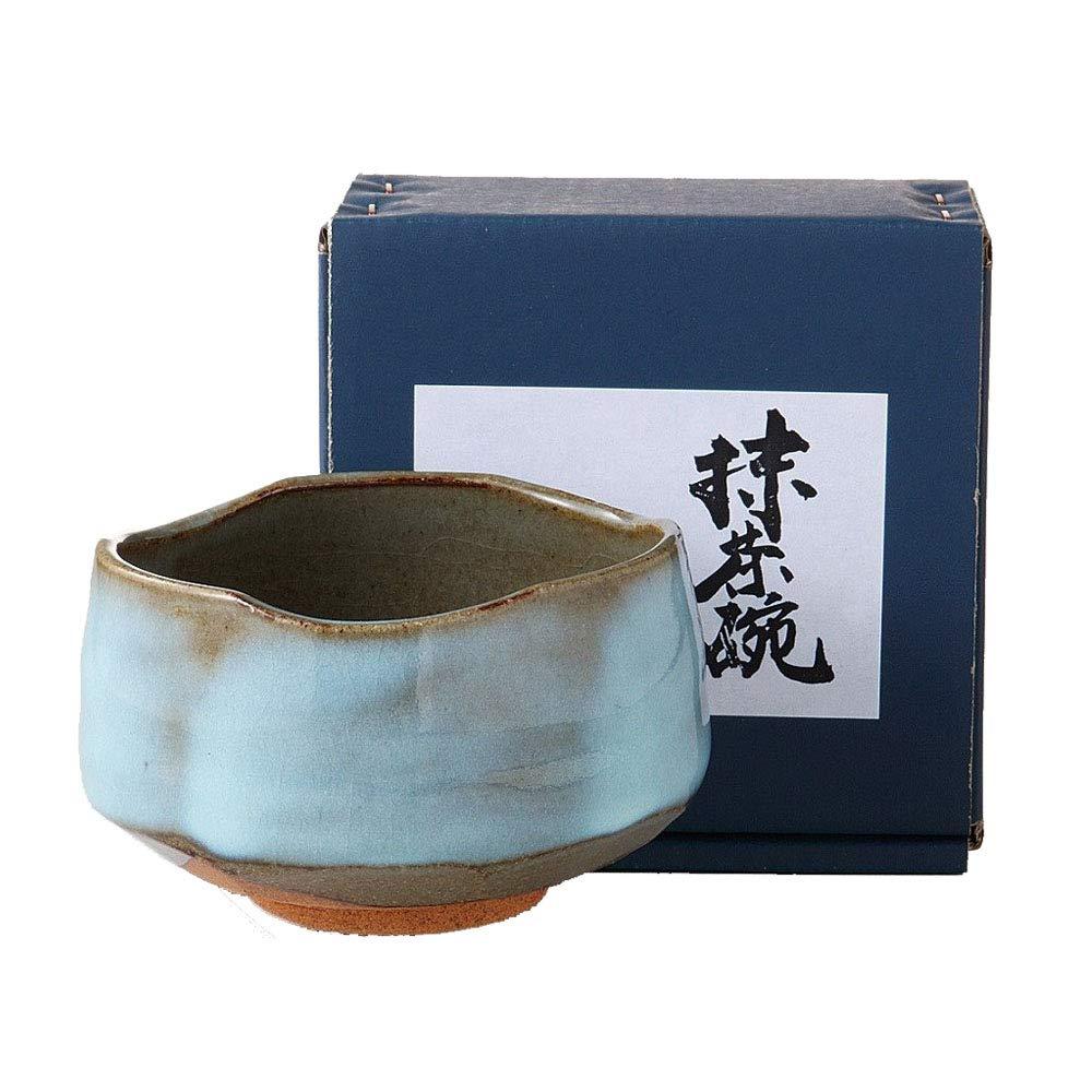"Minoyaki Mashiko Style blue-green Matcha Bowl ""Ochawan"" by Made in Japan"