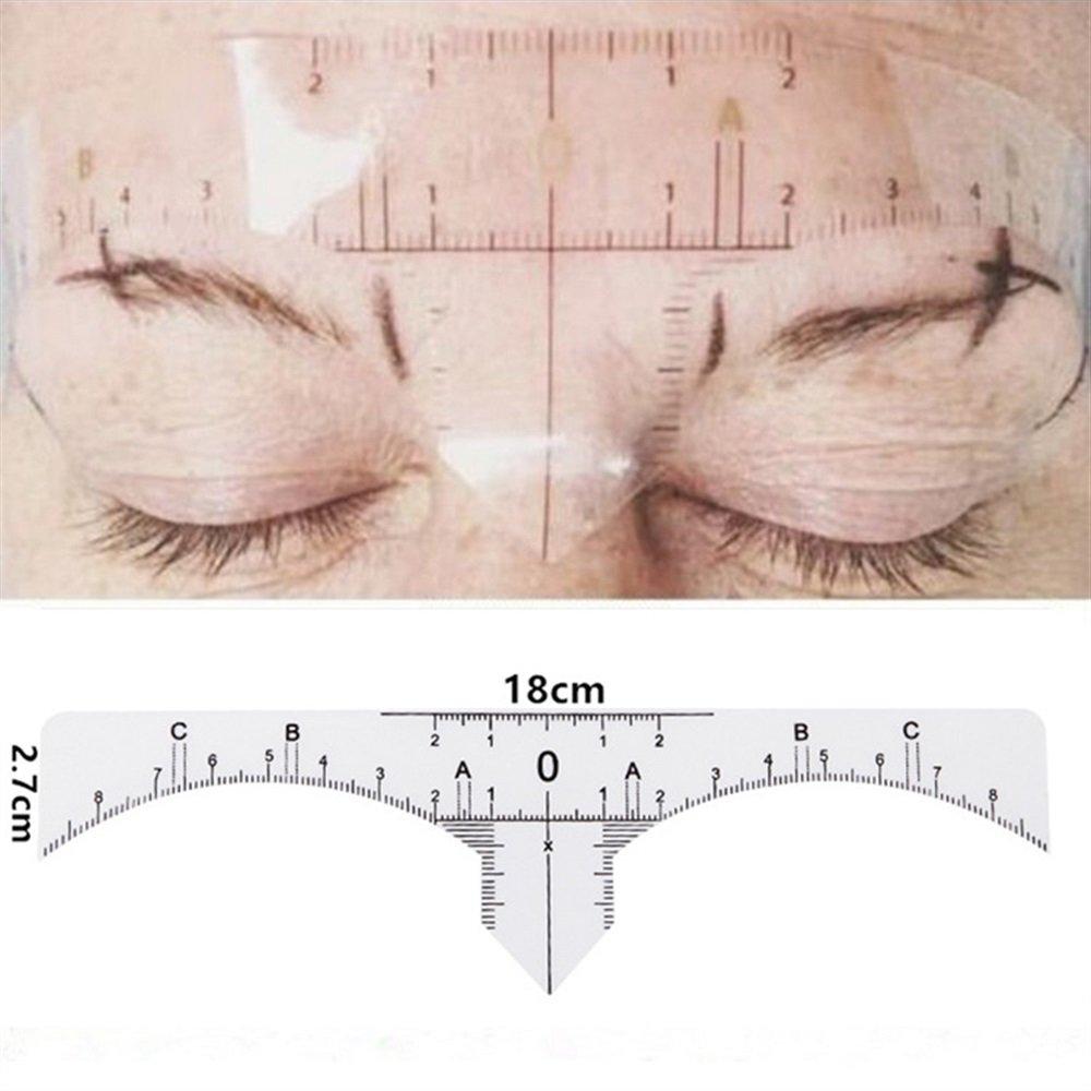 Huihuger Diez piezas desechables ceja medida ceja guí a regla herramientas de maquillaje