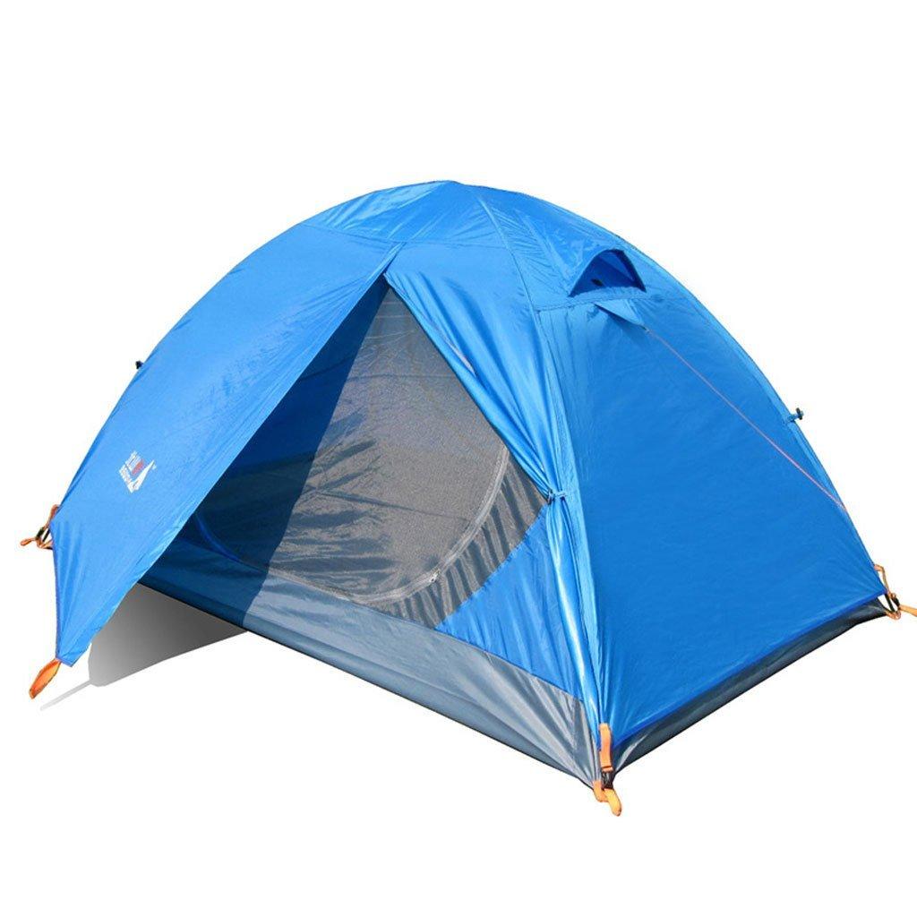Außenzeltstange Doppelglaswind Klage gegen Sturm Campingausrüstung Paket Einzel Schlafsäcke Feuchtigkeit Pad LED-Leuchten