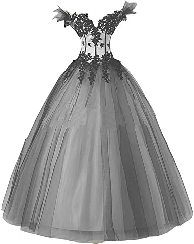 gothic black and white wedding dress