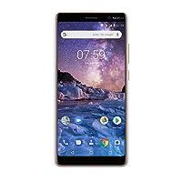 Nokia 7 Plus Smartphone Débloqué 4G LTE (Ecran : 6 pouces Full HD+ format 18:9 - 4Go RAM - 64Go stockage - Dual SIM - Android One) Blanc [Version Française]
