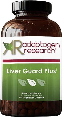 Adaptogen Research Liver Guard Plus Liver Support Cleanse Detox Milk Thistle NAC Reishi Cordyceps 120 Vegetarian Capsules