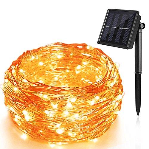 LED Outdoor Lichterkette Kupferdraht lichterketten Batterienbetrieben mit Fernbedienung 8 Modi,Dimmable,IP65 Wasserdichte für Outdoor, Innenbeleuchtung, Garten, Hochzeit, Party