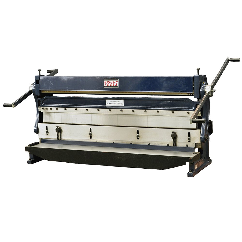 Bolton Tools 52'' Heavy Duty Combination 3 in 1 Sheet Metal Machine - COMBINATION 3-in-1 SHEAR, BRAKE AND ROLL STAND NOT INCLUDED
