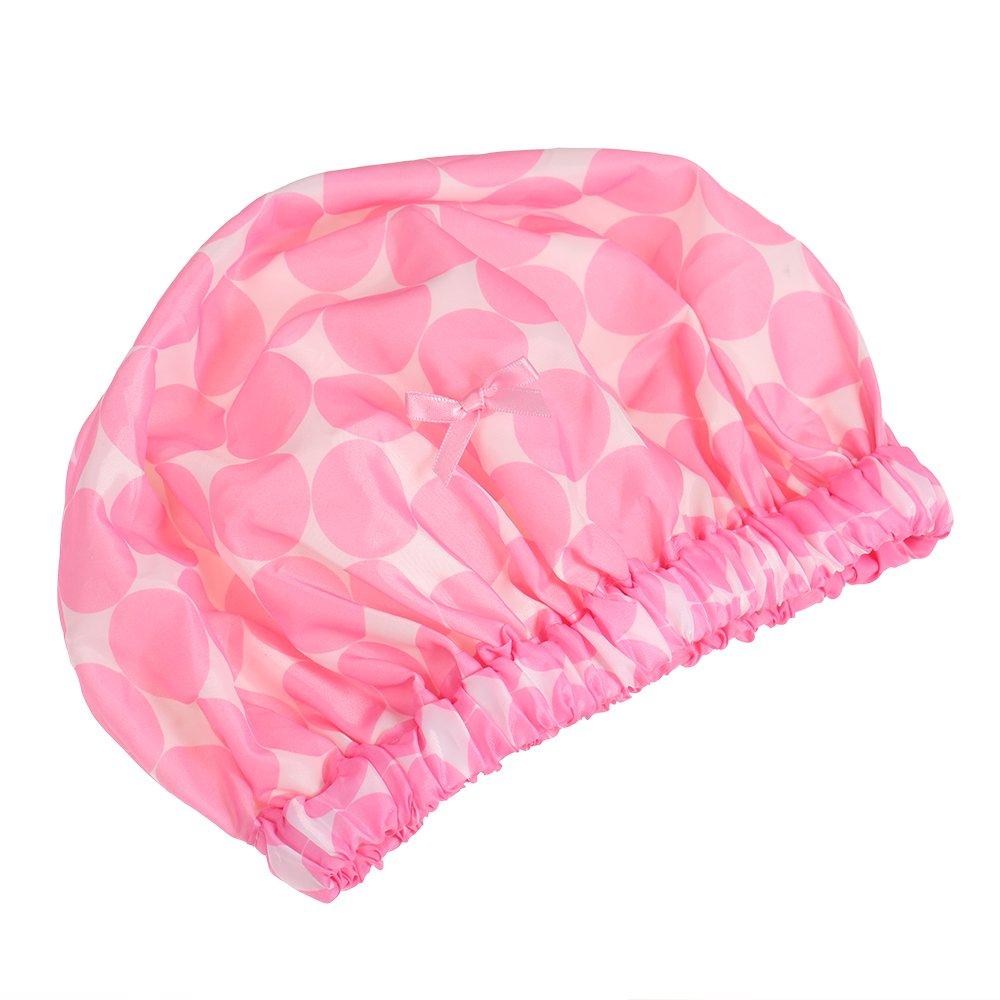 Decdeal Femme Bonnet Étanche de Bain Élastique Spa Douche Casquette Bonnet de Nuit Bonnet Chapeau Chapeau de Cheveux