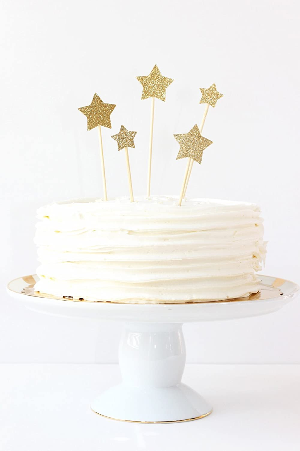 Amazon Gold Glitter Star Cake Toppers Wedding Decorations Party Supplies Twinkle Little 1st First Birthday Topper