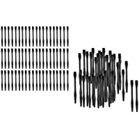 Baoblaze 120 Piezas de Ejes de Dardos de Plastico Color Negro Ligero Duradero Ajustable