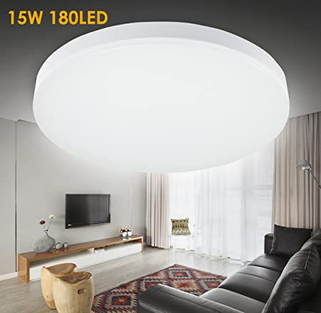 Greenclick ceiling lights led flush 15w 5000k high quality 12 99 inch 1050 1200lm cool white