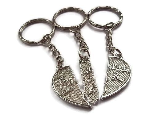 Halo accesorios corazón partido plata Big Sis mamá & Little ...