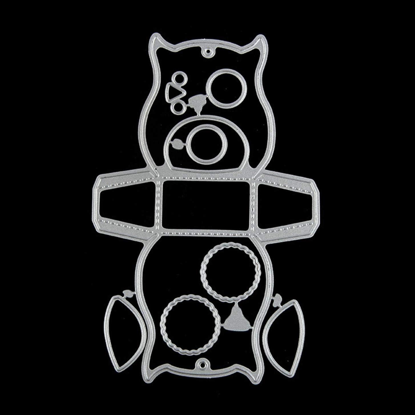 stencil artigianato a forma di gufo biglietti Dyudyrujdtry Fustella in metallo album di ritagli decorazione per la casa Colore immagine per fai da te
