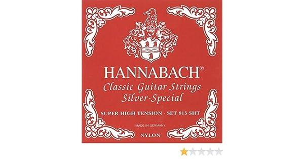 Hannabach Cuerdas Para Guitarra Clasica Serie 815 Super Low Tension Plateado Especial Cuerda Suelta G3//Sol3