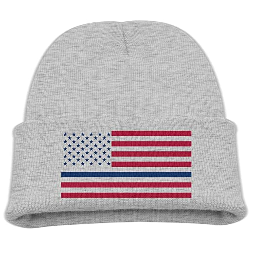 d514c0b6dc1 Banana King Thin Blue Line American Flag Camp Colors Baby Beanie Hat  Toddler Winter Warm Knit Woolen Watch Cap for Kids at Amazon Men s Clothing  store