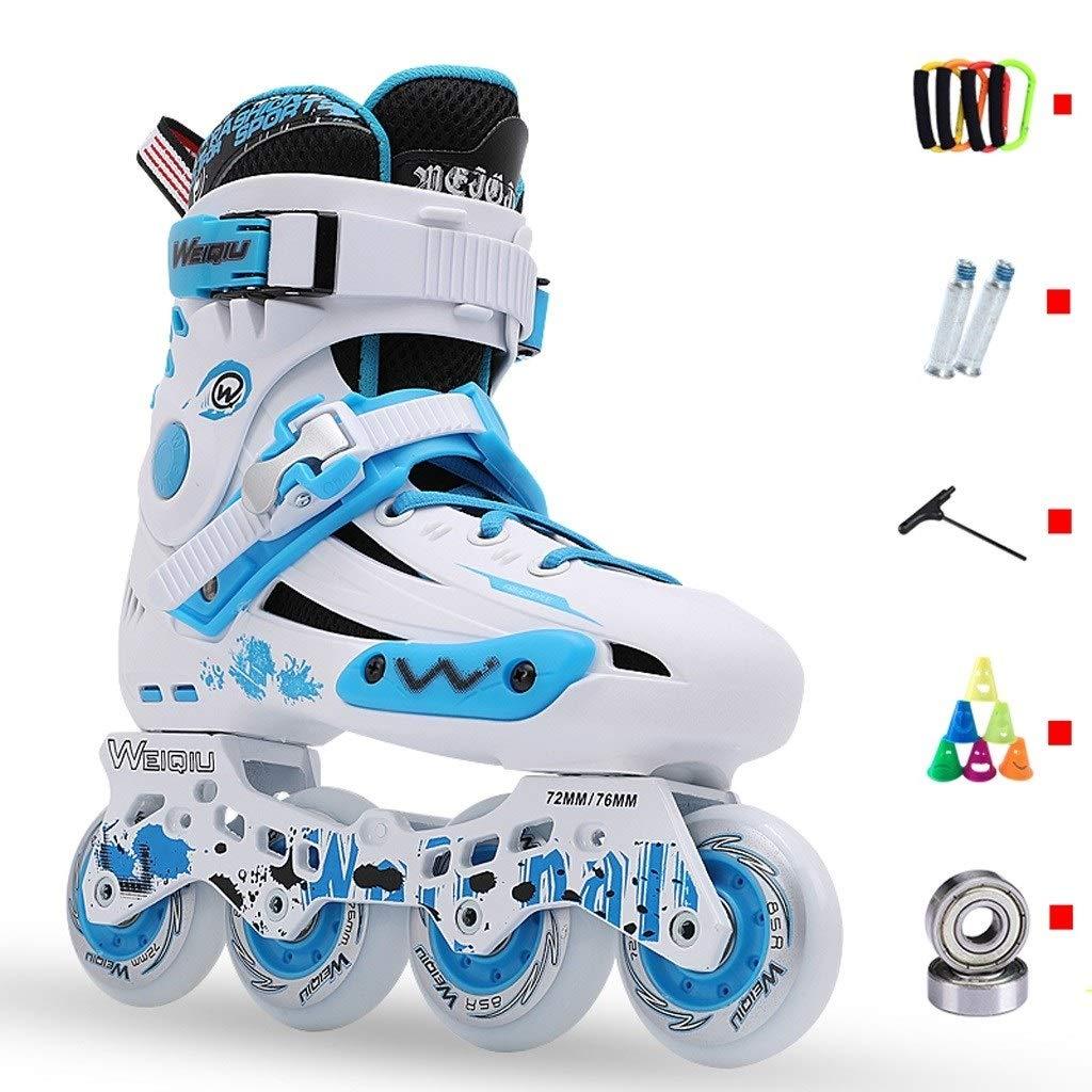 青年耐久性のあるインラインスケート、大人の屋外高性能インラインスケート、男性と女性の初心者メッシュ通気性のプロローラースケート (Color : A, Size : EU 35/US 4/UK 3/JP 22.5cm) A EU 35/US 4/UK 3/JP 22.5cm