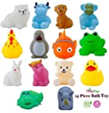 Tinny Time Chu Chu Bath Toys for Baby Non-Toxic Toddler Set Multi Colour (14pcs Bath Toys)