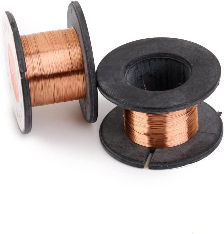 2pcs Fly Line Maintenance Welding Line Reel Wire 0.1mm