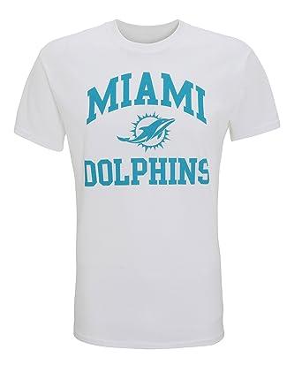American Sports Merch NFL Miami Dolphins T Shirt - White or Grey  Amazon.co. uk  Clothing 5f9e8448b
