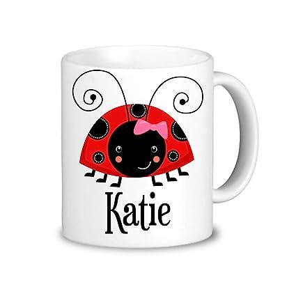 Ladybug Personalized Mug - Pink Red Ladybug Mug Dinnerware Cup You Pick Bug Plastic  sc 1 st  Amazon.com & Amazon.com: Ladybug Personalized Mug - Pink Red Ladybug Mug ...