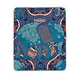 ALAZA Vintage Elephant India Ethno Style Siesta Camping Travel Blankets Plush Throws Lightweight Bed SOFE Size 50x60inches