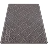 "Babyltrl Extra Large Cat Litter Mat, XL Jumbo Size, 35"" x 23"", Phthalate Free, Traps Litter from Box and Paws, Non-slipping Backing, Easy to Clean, Soft for Sensitive Kitty Paws"