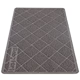Babyltrl Extra Large Cat Litter Mat, XL Jumbo Size, 35'' x 23'', Phthalate Free, Traps Litter from Box and Paws, Non-slipping Backing, Easy to Clean, Soft for Sensitive Kitty Paws