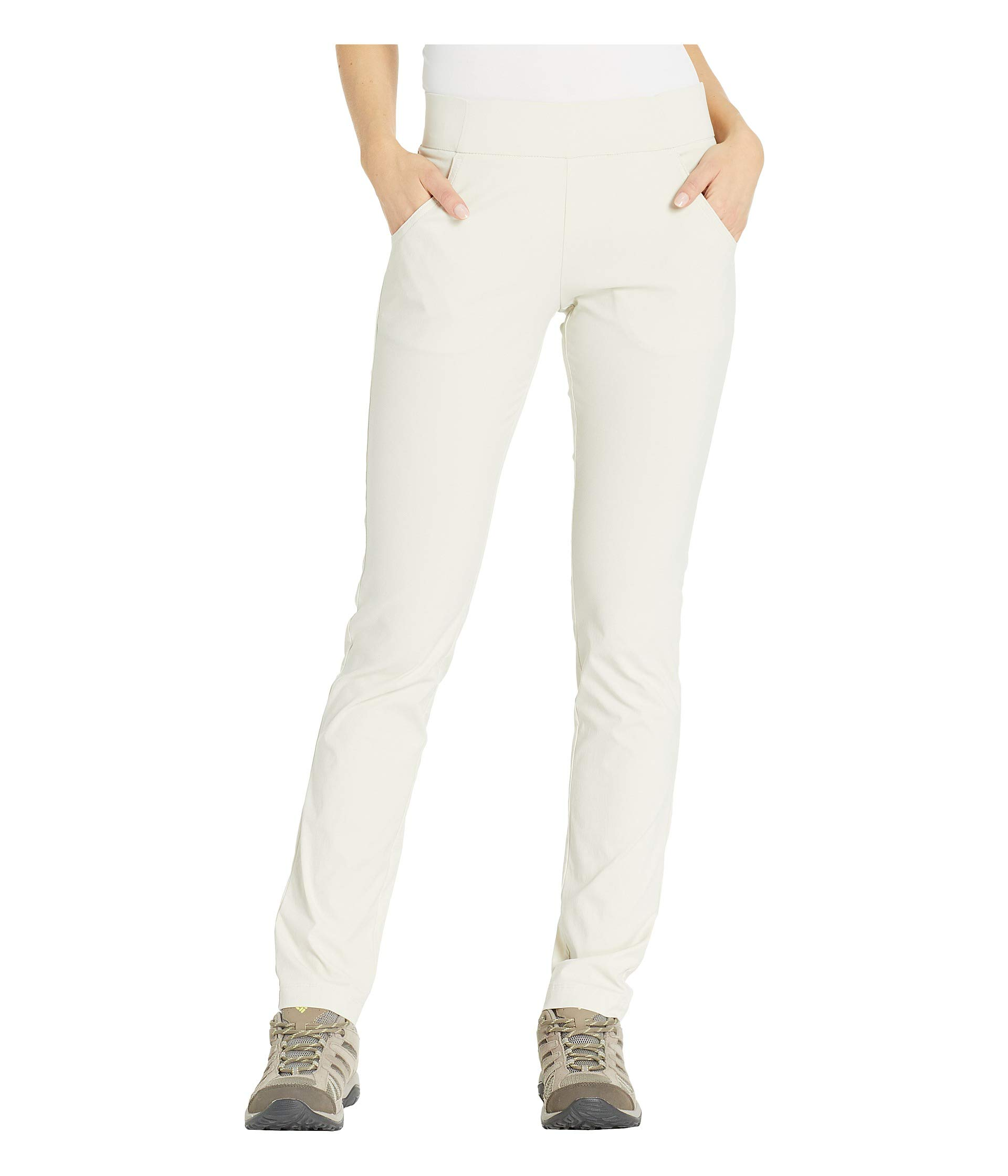 Columbia Women's Anytime Casual Pull On Pant, Stone, X-Small x Regular