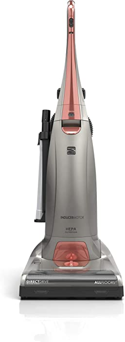 Kenmore Elite 14 Inch Pet Friendly Bagged Upright Vacuum Cleaner, Gray & Red