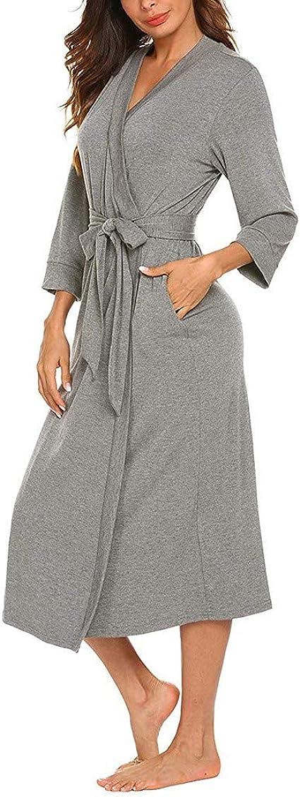 STRIR Señoras Robe Toweling algodón Bata Albornoz Mujeres Altamente Absorbente Mujeres Towel baño Abrigo Bata de Baño Cubrir Arriba Bata de Noche Ropa de Dormir Pijamas: Amazon.es: Ropa y accesorios