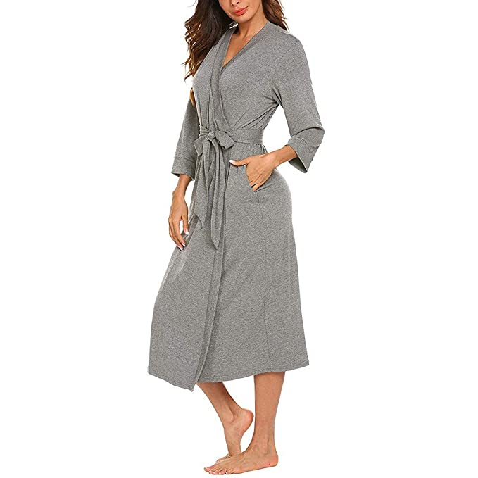 Pijamas De Una Pieza Mujer Invierno Pijama Bata De Casa Camison Atractivo Cuello V De Tallas Grandes Suave Batas Para Estar En Casa Con Cinturon Ajustable Ropa De Dormir Fannyfuny Ropa Mujer