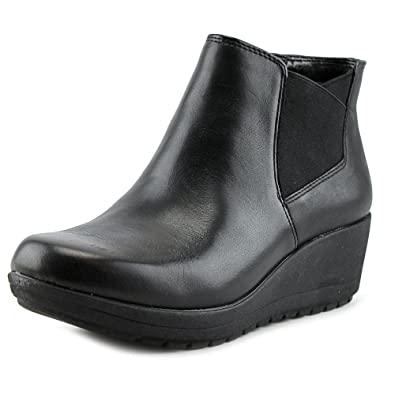 e360 Corby Round Toe Leather Bootie