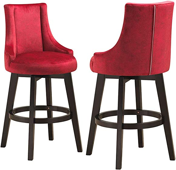 Kings Brand Furniture Ledoux Upholstered Swivel Bar Stool