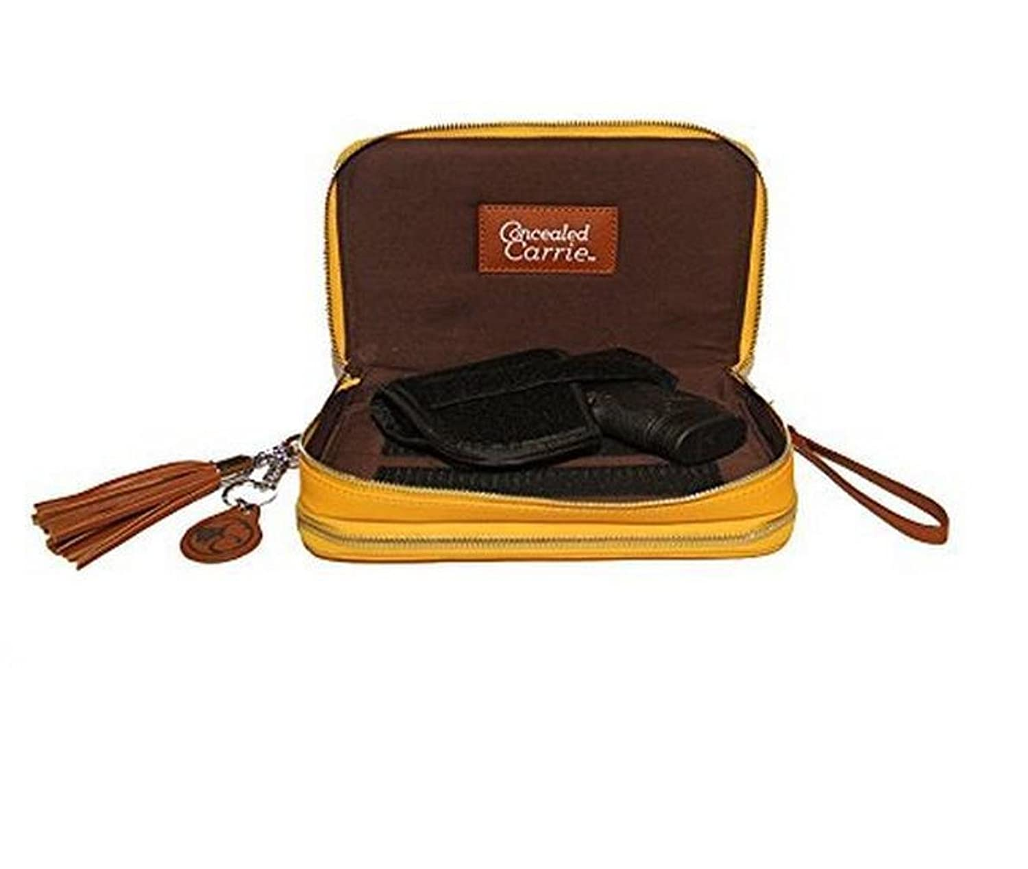 Concealed Carrie Mustard Compact Carrie Firearm Bag
