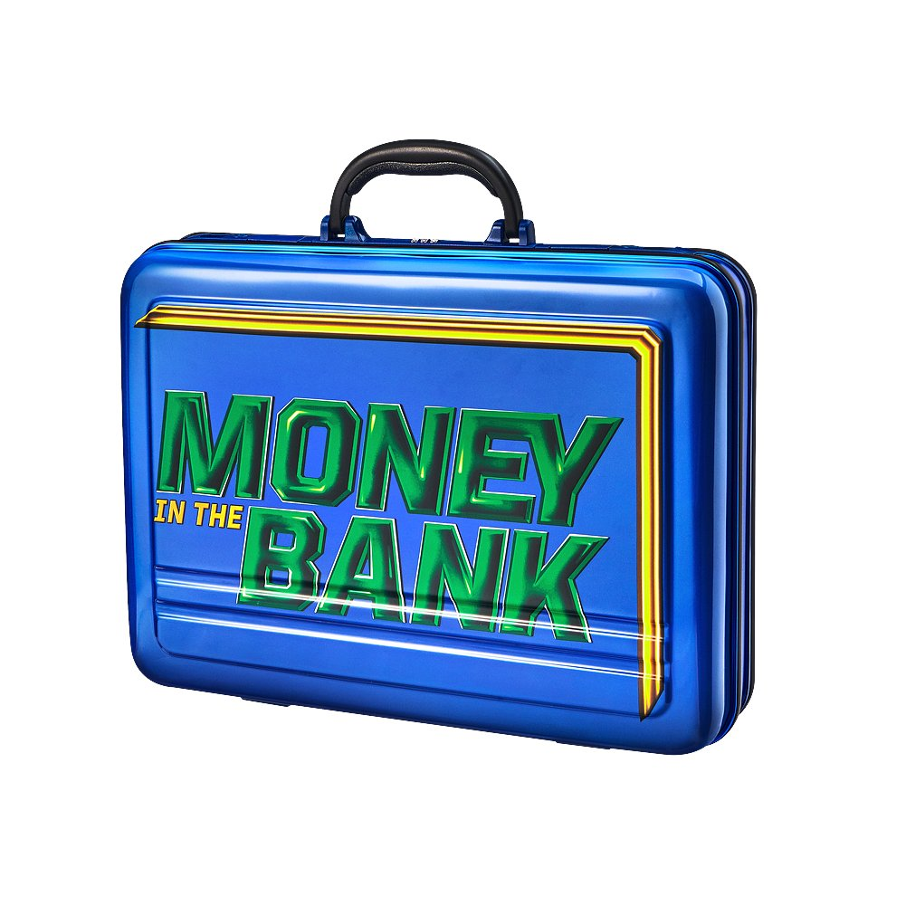 WWE AUTHENTIC WEAR Money in The Bank Blue Briefcase by WWE AUTHENTIC WEAR