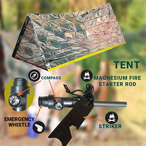 Emergency Mylar Tent ... & Emergency Mylar Tent u0026 Magnesium Fire Starter Kit | 8u0027 X 5 ...