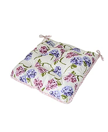 Admirable Provence Soft 100 Cotton Floral Chair Cushion With Ties In French Country Style 15 X 15 Purple Garden Flowers Creativecarmelina Interior Chair Design Creativecarmelinacom