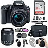 Canon EOS Rebel SL2 DSLR Camera with EF-S 18-55mm f/4-5.6 IS STM Lens + Sandisk 32GB SDHC card + Canon Bag Case + 3 Pc. UV CPL FLD Filter Kit