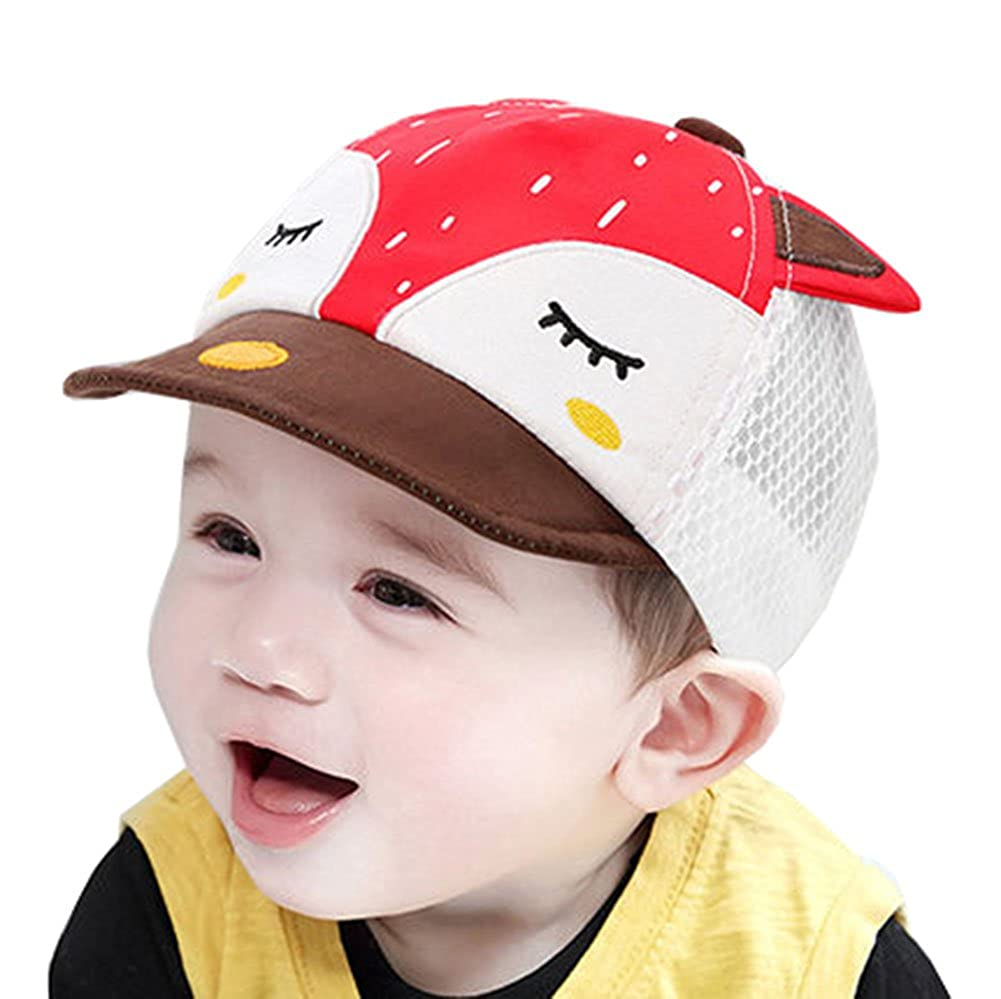 Baby Kids Boys Cute Fox UV Protection Summer Mesh Baseball Hat Sun Hat