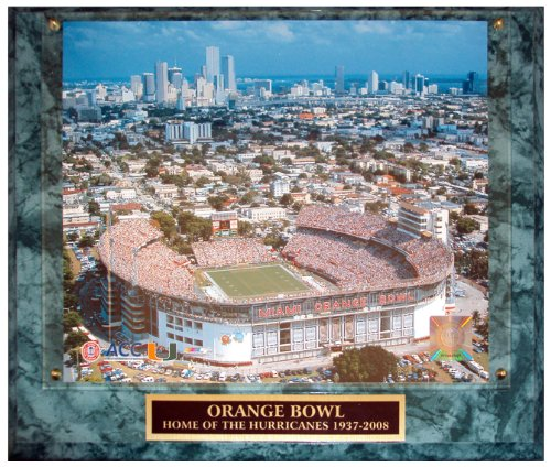 University of Miami Hurricanes (Orange Bowl) Licensed 8x10 Photo Plaque -