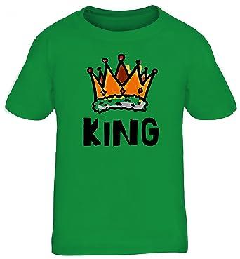 ShirtStreet Geschenkidee Kids Kinder T-Shirt mit Crown King Motiv, Größe:  110/
